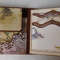 """"""" Az én kertem..."""" - egyedi, kézműves scrapbook  fotóalbum, Naptár, képeslap, album, Fotóalbum, Jegyzetfüzet, napló, Papírművészet, Gyönyörű fotóalbumot készítettem az egyik vásárlómnak, de szívesen elkészítem Neked is,, ha a virág..., Meska"""