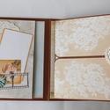 Menyasszony- vőlegény - egyedi, kézműves scrapbook fotóalbum, Esküvő, Naptár, képeslap, album, Nászajándék, Fotóalbum, A két főszereplőnek készítem ezt a nagyon egyedi, szép vintage esküvői scrapbook fotóalbumot.   A al..., Meska