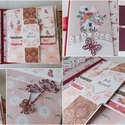 """"""" Virágok közt..."""" - egyedi, kézműves amerikai stílusú esküvői scrapbook fotóalbum, Esküvő, Naptár, képeslap, album, Nászajándék, Fotóalbum, Gyönyörű, modern, amerikai stílusú kézműves esküvői scrapbook albumot készítettem teljes mértékben s..., Meska"""