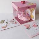 Egyedi, kézműves meglepetés-doboz- pénzátadó kislányoknak keresztelőre, gyermekáldásra