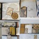 Egyedi, kézműves, nagyméretű steampunk táska scrapbook album
