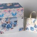 """"""" A fellegekben"""" - egyedi kézműves amerikai stílusú esküvői meglepetés-doboz mini fotóalbummal és táska pénzátadóval, Esküvő, Naptár, képeslap, album, Nászajándék, Fotóalbum, Modern, nagyon szép, nagyméretű, amerikai stílusú esküvői meglepetés-dobozt készítettem, melynek bel..., Meska"""
