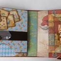 Alice - egyedi, kézműves családi pop up scrapbook album, Baba-mama-gyerek, Naptár, képeslap, album, Fotóalbum, Jegyzetfüzet, napló, Gyönyörű gyerek- és/vagy családi pop up scrapbook albumot készítettem azoknak, akik szeretik az egye..., Meska