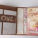 30! - egyedi, kézműves scrapbook születésnapi album, Naptár, képeslap, album, Fotóalbum, Ez az album egy fiatal hölgy 30. születésnapjára készült, melyben első 30 évének legfontosabb állomá..., Meska