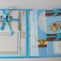 Az első élményeim a világról - egyedi, kézműves scrapbook babakönyv , Naptár, képeslap, album, Baba-mama-gyerek, Fotóalbum, Jegyzetfüzet, napló, Papírművészet, Gyönyörű, kézműves scrapbook babakönyvet készítettem, melyben megőrizheted kisfiad első évének legf..., Meska