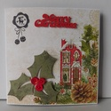 Karácsonyi mesekönyv - egyedi, kézműves karácsonyi képeslap, Külöleges karácsoyi képeslapot készítettem, ...