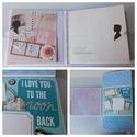 Modern szerelem - egyedi, kézműves LOVE/ esküvői scrapbook album, Naptár, képeslap, album, Fotóalbum, Jegyzetfüzet, napló, Ha szereted a régies dolgokat de a MODERN a kedvenced, akkor ez az egyedi, kézműves scrapbook album ..., Meska