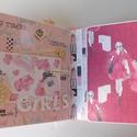 """"""" La femme"""" - egyedi, kézműves modern, csajos szülinapi scrapbook album, Naptár, képeslap, album, Fotóalbum, Jegyzetfüzet, napló, Egy 18 éves szuper csajos, vidám lánynak készítettem ezt a scrapbook albumot 18. születésnapjára, me..., Meska"""