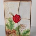 Egyedi, kézműves karácsonyi képeslapok  viaszpecséttel, Naptár, képeslap, album, Otthon, lakberendezés, Ajándékkísérő, Nagyon egyedi, különleges képeslapot készítettem, melyben az ünnnephez méltóan küldheted el karácson..., Meska
