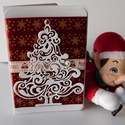 Bársonyos karácsony- egyedi, kézműves karácsonyi képeslap, Naptár, képeslap, album, Otthon, lakberendezés, Ajándékkísérő, Papírművészet, Egyedi, különleges karácsonyi képeslapot készítettem, melyben az ünnephez máltóan küldheted el a jó..., Meska