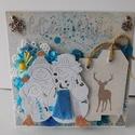 Holiday Wishes - egyedi, kézműves karácsonyi képeslap, Naptár, képeslap, album, Otthon, lakberendezés, Ajándékkísérő, Gyönyörű, kézműves karácsonyi képeslapot készítettem mixed media technikával, melyben az ünnephez mé..., Meska