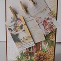 Karácsony otthona - egyedi, kézműves karácsonyi képeslap, Naptár, képeslap, album, Otthon, lakberendezés, Ajándékkísérő, Különleges, aranyos kézműves karácsonyi képeslapot készítettem scrapbook  technikával a karácsonyi o..., Meska