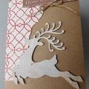 Christmas home- egyedi, kézműves mixed media karácsonyi pénzátadó, Naptár, képeslap, album, Ajándékkísérő, Különleges, teljes mértékben kézzel készült karácsonyi pénzátadó képeslapot készítettem, melyben átn..., Meska