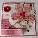 Karácsonyi varázslat- egyedi, kézműves karácsonyi képeslap, Naptár, képeslap, album, Otthon, lakberendezés, Ajándékkísérő, Gyönyörű, kézműves karácsonyi képeslapot készítettem scrapbook  technikával, melyben az ünnephez mél..., Meska