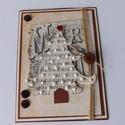 Fehér karácsony - egyedi, kézműves karácsonyi képeslap, Naptár, képeslap, album, Otthon, lakberendezés, Ajándékkísérő, Gyönyörű, kézműves karácsonyi képeslapot készítettem scrapbook  technikával, melyben az ünnephez mél..., Meska