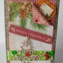 Szeretettel - egyedi, kézműves karácsonyi képeslap, Naptár, képeslap, album, Otthon, lakberendezés, Ajándékkísérő, Nagyonn szép, kézműves karácsonyi képeslapot készítettem scrapbook technikával, melyben az ünnephez ..., Meska