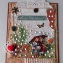 Barátnők- egyedi, kézműves karácsonyi képeslap, Nagyon szép, kézműves karácsonyi képeslapot k...