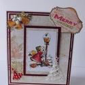Karácsonyi levél- egyedi, kézműves karácsonyi képeslap, Naptár, képeslap, album, Otthon, lakberendezés, Ajándékkísérő, Nagyon aranyos, egyedi, kézműves karácsonyi képeslapot készítettemscrapbook technikával, melyben az ..., Meska