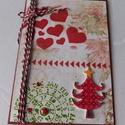 Szenteste - egyedi, kézműves karácsonyi képeslap, Naptár, képeslap, album, Otthon, lakberendezés, Ajándékkísérő, Nagyon különleges, kézműves karácsonyi képeslapot készítettem mixed media technikával, melyben az ün..., Meska