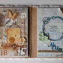 """""""Husband and Wife"""" - egyedi, kézműves nagyméretű mixed media esküvői album, Esküvő, Naptár, képeslap, album, Nászajándék, Fotóalbum, Hihetetlen gyönyörű egyedi, kézműves nagyméretű esküvői albumot készítettem mixed media technikával...., Meska"""
