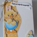 Az első húsvétom - egyedi, kézműves húsváti képeslap babáknak, Naptár, képeslap, album, Képeslap, levélpapír, Nagyon aranyos, egyedi, kézműves húsvéti képeslapot készítettem, melyben elküldheted jókívánságaidat..., Meska