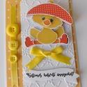 Az első húsvétom 2. - egyedi, kézműves húsvéti képeslap babáknak, Naptár, képeslap, album, Képeslap, levélpapír, Nagyon aranyos, egyedi, kézműves húsvéti képeslapot készítettem, melyben elküldheted jókívánságaidat..., Meska