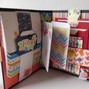 One big happy family- egyedi, kézműves scrapbook folio-album, Naptár, képeslap, album, Otthon, lakberendezés, Fotóalbum, Jegyzetfüzet, napló, Bár csak pár oldala van, mégis nagyon sok fénykép elfér ebben a mini scrapbook fotó folióban.   Telj..., Meska