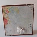 Egyedi, kézműves shabby- vintage mixed media képeslap anyák napjára, Naptár, képeslap, album, Esküvő, Otthon, lakberendezés, Gyönyörű, egyedi, kézműves shabby- vintage mixed media képeslapot készítettem a közelgő anyák napja ..., Meska