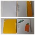 Egyedi, kézműves titok napló, jegyzetfüzet, mindenes, rajzfüzet, Baba-mama-gyerek, Naptár, képeslap, album, Jegyzetfüzet, napló, Azoknak készítettem ezt az egyedi, kézműves jegyzetfüzetet, akik szeretnek sokat jegyzetelni, titkos..., Meska