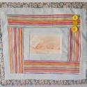Babaszoba falikép, gyerekszoba dekoráció modern patchwork log cabin blokkal, Baba-mama-gyerek, Dekoráció, Naptár, képeslap, album, Gyerekszoba, Modern babaszobába készítem ezt a saját ötlet alapján készült egyedi, különleges, kreatív kézműves b..., Meska