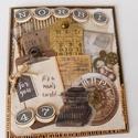 Boldogat! - egyedi, kézműves vintage stílusú születésnapi képeslap férfiaknak, Férfiaknak, Naptár, képeslap, album, Steampunk ajándékok, Kreatív, különleges, kézműves vintage stílusú születésnapi képeslapot készítettem névvel és életkorr..., Meska