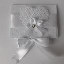 Csipke és elegancia - egyedi, kreatív  ajándék- vagy pénzátadó esküvőre , Baba-mama-gyerek, Esküvő, Naptár, képeslap, album, Nászajándék, Nagyon szép pénzátadó borítékot készítettem esküvőre  melyben átnyújthatod ajándékodat az ifjú párna..., Meska