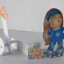 Mama, nagyon szeretlek! - egyedi, kézműves pop up képeslap nagyinak anyák napjára vagy születésnapra, Naptár, képeslap, album, Anyák napja, Képeslap, levélpapír, Nagyon aranyos, egyedi, kreatív pop up képeslapot készítettem, melyben kislány unnoka köszöntheti na..., Meska