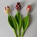 Egyedi, kézműves patchwork anyag tulipánok, Dekoráció, Képzőművészet, Otthon, lakberendezés, Anyák napja, Textil, Gyönyörű patchwork anyag tulipánokat készítettem. A tulipánok különböző vászonanyagokból készültek k..., Meska