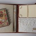 Két szív eggyé válik - egyedi, kézműves scrapbook fotóalbum esküvőre, eljegyzésre, évfordulóra, szerelmeseknek, vintage, Esküvő, Naptár, képeslap, album, Nászajándék, Fotóalbum, Az esküvő két főszereplőjének készítem ezt a nagyon egyedi, szép vintage esküvői scrapbook fotóalbum..., Meska