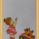 Egyedi kislány babaszoba falidísz, falikép, kreatív babaszoba dekoráció, gyerekszoba dekoráció, Naptár, képeslap, album, Képzőművészet, Baba-mama-gyerek, Festmény,  A4 méretű akvarell  baba-, gyerekszoba falikép, dekoráció. Nem nyomtatott változat, hanem kézzel fe..., Meska