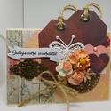 Egyedi, kézműves  képeslap ballagásra, virágos, vintage, Naptár, képeslap, album, Esküvő, Otthon, lakberendezés, Képeslap, levélpapír, Gyönyörű, egyedi, kézműves képeslapot készítettem a közelgő ballagások alkalmából.  A képeslap scrap..., Meska
