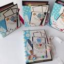 Egyedi, kézműves ovis ballagásra készülő scrapbook fotóalbum, fényképalbum csomag pedagógusoknak, dajka néniknek, Naptár, képeslap, album, Ballagás, Fotóalbum, Jegyzetfüzet, napló, Bár csak pár oldaluk van, mégis nagyon sok fénykép elfér ezekben a mini scrapbook fotó foliókban.  T..., Meska
