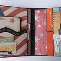 Amerikai utazásom története - egyedi, kézműves utazási scrapbook album és útinapló és pénzátadó, USA, amerikai, A scrapbook albumokat azért szeretik az utazók, ...