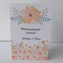 Egyedi, modern, amerikai stílusú születésnapi képeslap, virágos, Naptár, képeslap, album, Ajándékkísérő, Képeslap, levélpapír, Nagyon szép, modern születésnapi képeslap,  kiváló minőségű 250 grammos kartonra nyomtatva. Kinyitha..., Meska