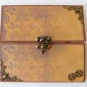 Egyedi, kézműves scrapbook képeslap férfinak, steampunk, Férfiaknak, Naptár, képeslap, album, Steampunk ajándékok, Képeslap, levélpapír, Egyedi, különleges módon záródó, scrapbook képeslap férfinak születésnapra vagy egyéb jeles alkalomr..., Meska
