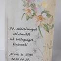 50! - egyedi képeslap születésnapra, virágos, vintage, Naptár, képeslap, album, Ajándékkísérő, Képeslap, levélpapír, Nagyon szép, virágos képeslap,  kiváló minőségű 250 grammos kartonra nyomtatva. Kinyitható, belsejéb..., Meska