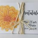 Sunflower - egyedi, modern, amerikai stílusú pénzátadó esküvőre, születésnapra, ballagásra, virágos, zsebes, , Naptár, képeslap, album, Esküvő, Ajándékkísérő, Nászajándék, Nyújtsd át pénzajándékodat az ünnepeltnek, ebben az egyedi zsebes, pénzátadó borítékban.  Kiváló min..., Meska