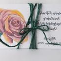 Roses- egyedi, modern, amerikai stílusú pénzátadó esküvőre, születésnapra, ballagásra, virágos, zsebes, , Naptár, képeslap, album, Esküvő, Ajándékkísérő, Nászajándék, Nyújtsd át pénzajándékodat az ünnepeltnek, ebben az egyedi zsebes, pénzátadó borítékban.  Kiváló min..., Meska