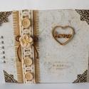 Egyedi, kézműves esküvői vendégkönyv- és fotóalbum vagy lánybúcsúra emlékköynv, Esküvő, Naptár, képeslap, album, Nászajándék, Fotóalbum, Kész termék, azonnal vihető!!!!  Gyönyörű, elegáns esküvői vendégkönyv- és fotóalbumot készítettem. ..., Meska