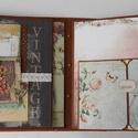 Egyedi, kézműves  születésnapi scrapbook album romantikus lelkeknek, Naptár, képeslap, album, Fotóalbum, Jegyzetfüzet, napló, Gyönyörű, teljes mértékben kézzel készült, személyre szabott születésnapi albumot készítettem, melyh..., Meska