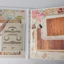 Egyedi, kézműves scrapbook fotóalbum őszi esküvőre vagy házassági évfordulóra, eljegyzésre, wedding, vintage, emlékkönyv, Esküvő, Naptár, képeslap, album, Nászajándék, Fotóalbum, A régies (vintage) stílus kedvelt az  esküvőkön, melyet minden kiegészítőben is igyekszenek a párok ..., Meska