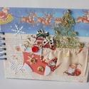 Az első karácsonyom - egyedi, kézműves baba fotóalbum, karácsony, kék, babz scrapbook album, baba, spirálos, Naptár, képeslap, album, Baba-mama-gyerek, Fotóalbum, Jegyzetfüzet, napló, N agyon aranyos fotóalbumot készítettem pici babád első karácsonyi fotóinak. Az albumban megörökíthe..., Meska