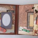 Around the world - egyedi, kézműves utazási scrapbook album, travel, scrapbook, vintage, útinapló, emékkönyv, Gyönyörű, teljes mértékben egyedi utazási fo...