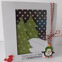 Karácsony este- Karácsony 2018 - egyedi, kézműves karácsonyi képeslap, karácsony, Naptár, képeslap, album, Ajándékkísérő, Képeslap, levélpapír, A Karácsony 2018 képeslapsorozatom annyira egyedi, hogy a sorozatban lévő minden képeslapból egyetle..., Meska